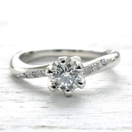 【湘南彫金工房 andfuse】【手作り婚約指輪コース】ダイアモンドを6石セットした華やかな印象の手作り婚約指輪