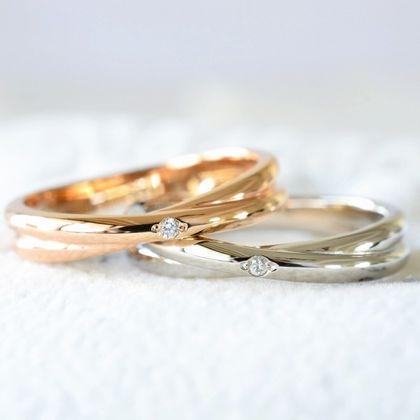 【湘南彫金工房 andfuse】【手作り結婚指輪デザインワックスコース】2連風の結婚指輪