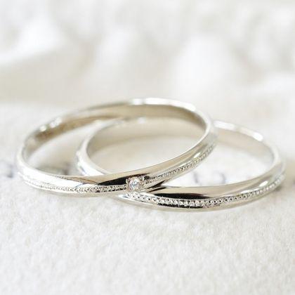 【湘南彫金工房 andfuse】【手作り婚約指輪ミルグレインコース】こう丸ミルグレイン1列ダイヤモンド