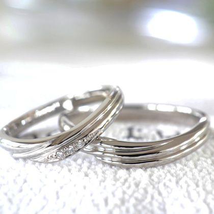 【湘南彫金工房 andfuse】【手作り結婚指輪デザインワックスコース】天使の羽をイメージした手作り結婚指輪
