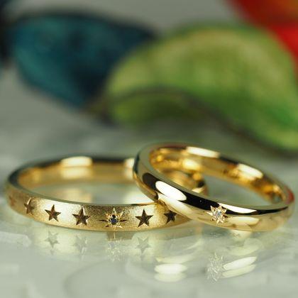 【Antille(アンティール)】オーダーメイド結婚指輪(イエローゴールド)
