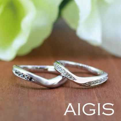 【AIGIS(旧:Jewel HAMA(ジュエルはま))】【手作り結婚指輪】プラチナ×宝石