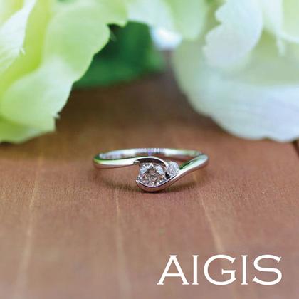 【AIGIS(旧:Jewel HAMA(ジュエルはま))】【手作り婚約指輪】Pt900/0.259ct 3EX