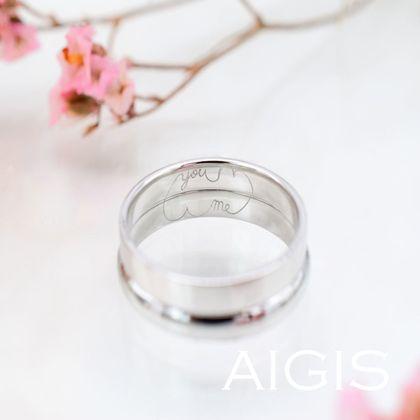【AIGIS(旧:Jewel HAMA(ジュエルはま))】手書き刻印の手作り結婚指輪