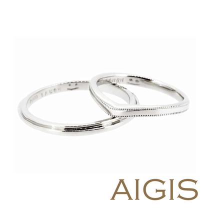 【AIGIS(旧:Jewel HAMA(ジュエルはま))】【手作り結婚指輪】笑顔が隠されたオリジナルデザイン