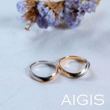 【AIGIS(旧:Jewel HAMA(ジュエルはま))】ゴールド×プラチナ コンビカラーのオーダーメイド結婚指輪