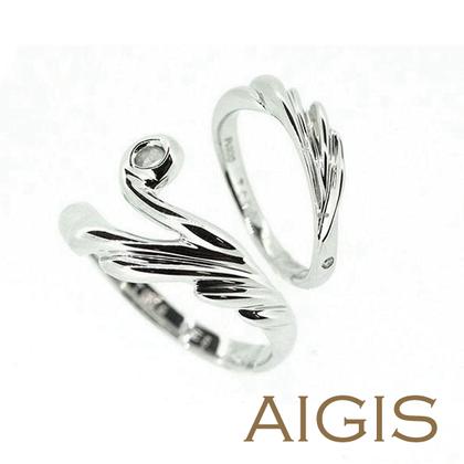 【AIGIS(旧:Jewel HAMA(ジュエルはま))】【二人で作る結婚指輪】流れがきれいな個性的リング