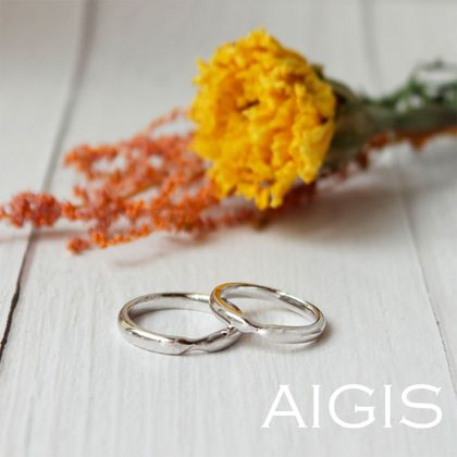 【AIGIS(旧:Jewel HAMA(ジュエルはま))】手作り結婚指輪 ひねりのきいたシンプルデザイン
