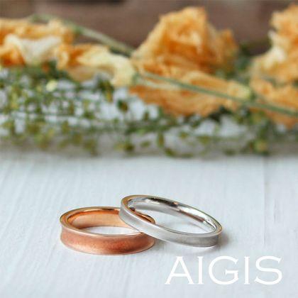 【AIGIS(旧:Jewel HAMA(ジュエルはま))】【逆甲丸×つや消し】手作り結婚指輪