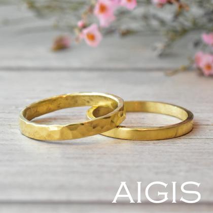 【AIGIS(旧:Jewel HAMA(ジュエルはま))】【最短当日持ち帰りOK】鍛造コースの手作り結婚指輪