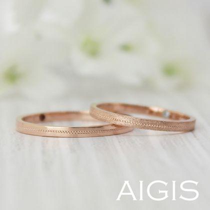 【AIGIS(旧:Jewel HAMA(ジュエルはま))】鍛造コース・手作り結婚指輪 ミル打ちで上品さをプラス