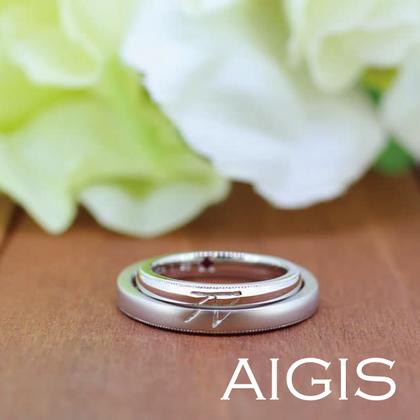 【AIGIS(旧:Jewel HAMA(ジュエルはま))】【手作り結婚指輪】重ね刻印×つや消し