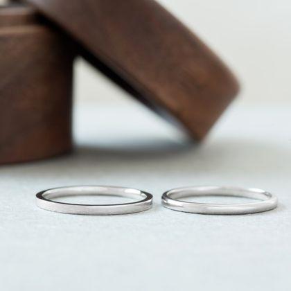 【横浜元町彫金工房】【ふたりでつくる結婚指輪】メンズPt900&レディースPt900(クリア仕上げ)