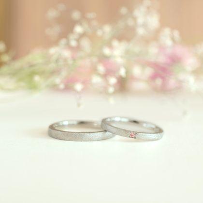 【横浜元町彫金工房】【ふたりでつくる結婚指輪】メンズPt900&レディースPt900(マット仕上げ)