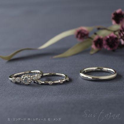【Sustaina(サスティナ)】ラボグロウンダイヤモンド セットリング Luna