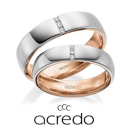 【acredo(アクレード)】ドイツの結婚指輪らしいペア感のある幅広のデザイン