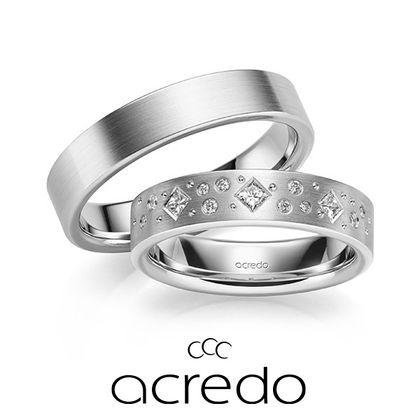 【acredo(アクレード)】大きさやカットの異なるダイヤを贅沢にセッティング