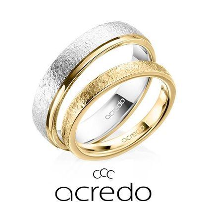 【acredo(アクレード)】メンズリングはカラーを2色使用し、レディースリングとは違った印象に