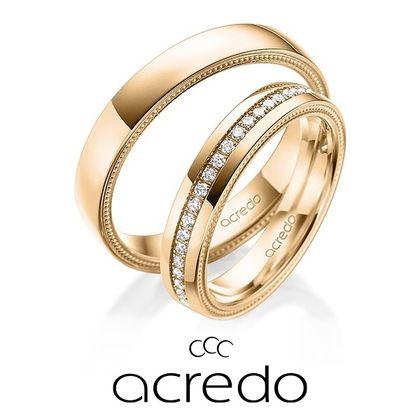 【acredo(アクレード)】鍛造製法でしっかりとダイヤモンドが埋め込まれている安定感のあるリング
