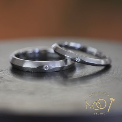 【ついぶ工房】【二人の想いが詰まった手作り結婚指輪】プラチナ・マット仕上げ