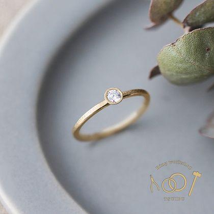 【ついぶ工房】【定額制の手作り婚約指輪】グレインダイヤコース ~毎日身に着けられる婚約指輪~