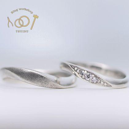 【ついぶ工房】【二人の想いが詰まった手作り結婚指輪】プラチナ・鏡面仕上げ