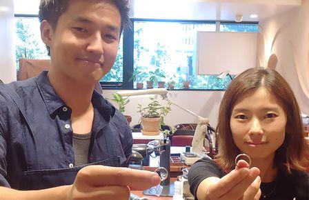 手作り婚約指輪のプロポーズが大成功!結婚指輪はふたりで手作り。