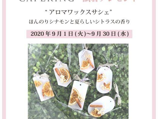 【沼津店・御殿場本店】 『 CAFE RING 』 9/30まで 指輪試着でアロマワックスサシェプレゼント