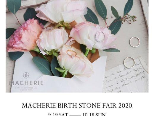 【MACHERIE】BIRTH STONE FAIR 2020