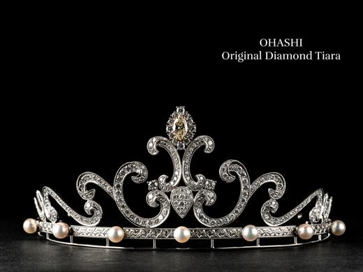 200個以上のダイヤモンドとパール《OHASHIオリジナル ダイヤモンドティアラ》無料レンタルできます
