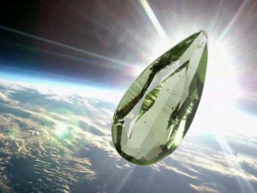 """宇宙からの唯一の宝石""""モルダバイト""""のルース(ドロップ型裸石)をもれなくプレゼント!"""